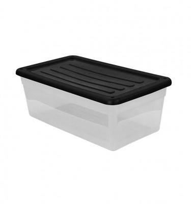 Clear Storage Bin Small Size - Black
