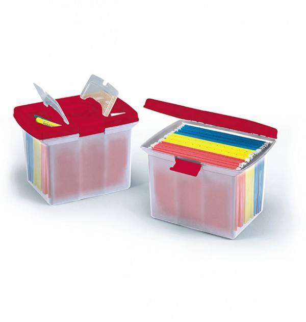 Deluxe File Caddy Red