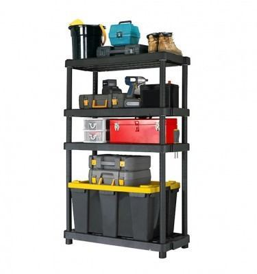 Adjustable 4 Shelf - Black