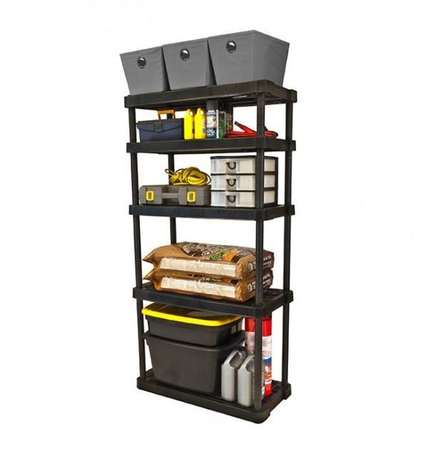 Adjustable 5 Shelf Heavy Black
