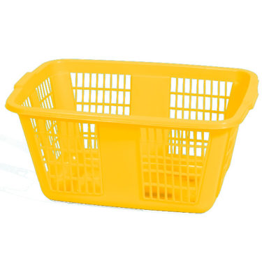 Family Laundry Basket Yellow