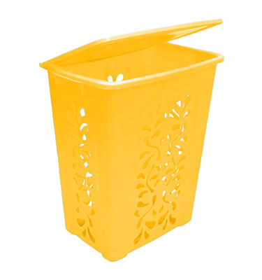 Tall Laundry Hamper Lid Yellow