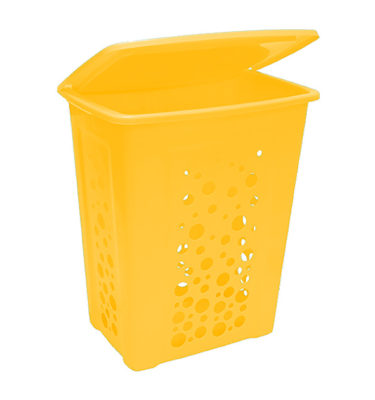 Tall Laundry Hamper Lid Yellow Suds